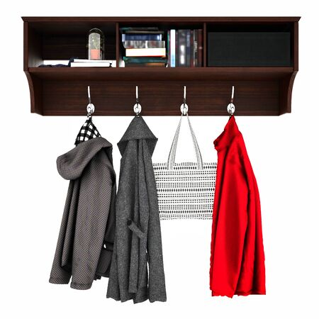 3d render of woman clothes on hanger