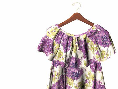 3d render of purple woman dress Reklamní fotografie