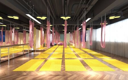 3d render of pilates and yoga center