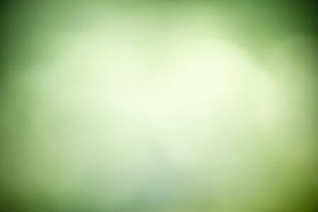 Zusammenfassung unscharf und unscharfer grüner Blatthintergrund unter Sonnenlicht mit Bokeh und Kopienraum unter Verwendung natürlicher Pflanzenlandschaft als Hintergrund, Ökologie-Tapetenkonzept.