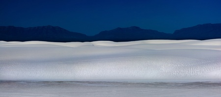 Panorama of White Sands National Monument in New Mexico, showing many sand dunes Stock Photo - 11799209
