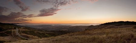 central california: Beautiful Skyline Boulevard atop California