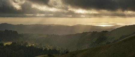 Beautiful California Landscape at sunset in the Santa Cruz Mountains Stock Photo - 13166316