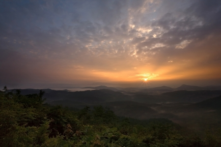 Sunrise over Appalachian Mountains photo