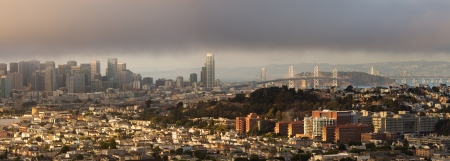 describe: June Gloom is a term often used to describe San Francisco, California, in summer, with it
