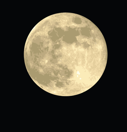 moon vector Stock Vector - 6521909