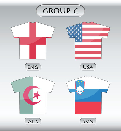 sports jersey: countries icons