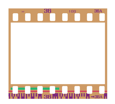 negatives: 35mm negative frame, with details and accurate dimension. Realistic look.