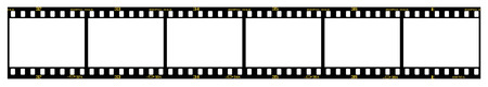 35mm: 35mm slidepositive frames in filmstrip, with details and accurate dimension. Illustration