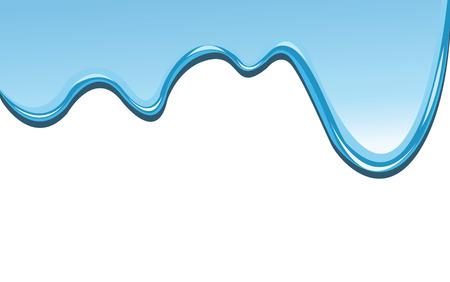 blauwe verf druppels neer, als achtergrond en met ruimte voor tekst.