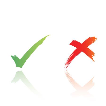 zertifizierung: Tick und Kreuz