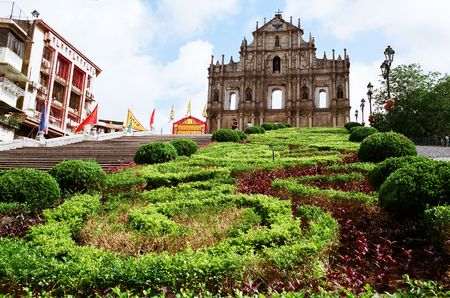 macau: Macau, China, CIRCA JUNE 2008 - It is an unesco world heritage site in Macau.