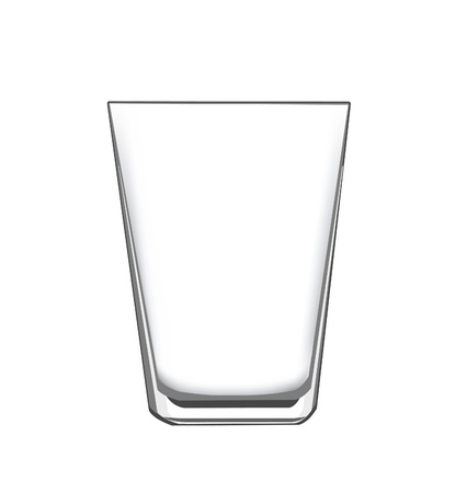 empty glass: an empty drinking glass, for concept or design elements