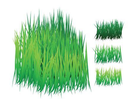 grass  with different shades, can be re-arranged easily for 3 dimension effect. Stock Vector - 7504072