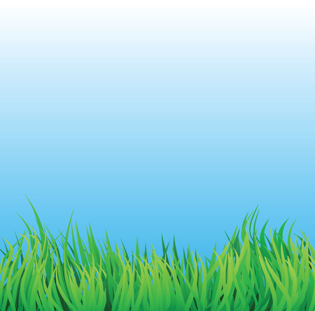 countryside scene with natural looking grass. Stock Vector - 7504079