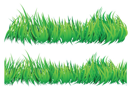 seamles natural looking grass that looks like wind blowing through it. Vector