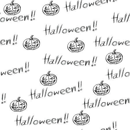 seamless background for halloween, doodle style. Vector