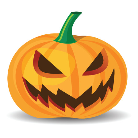 smilling: halloween pumpkin with evil grinning