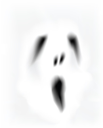 creepy monster: creepy ghost face  Illustration