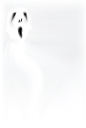 ghostly: spooky background with ghost alike object flying around