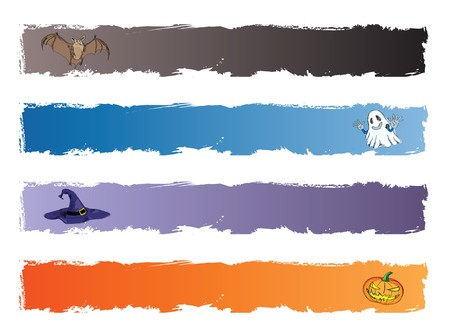 halloween banner, standard size as horizonal full banner size 468 x 60. photo