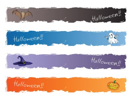 halloween banner, standard size as horizonal full banner size 468 x 60. Stock Photo - 7927720