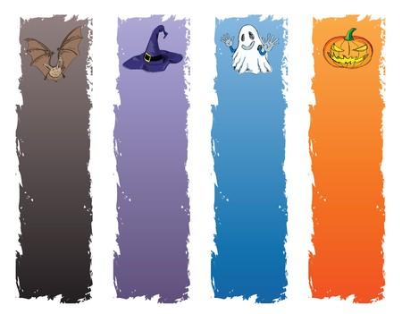 halloween banner, standard size as vertical banner size (skyscraper) 160 x 600. Stock Photo - 7927719