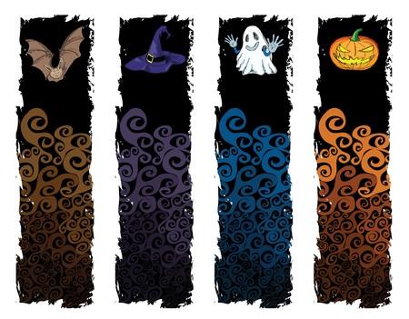 halloween banner, standard size as vertical banner size (skycraper) 160 x 600. photo