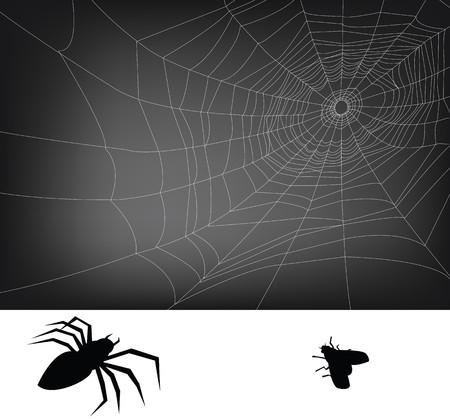 배경에 대 한 거미 웹 일러스트 레이 션.