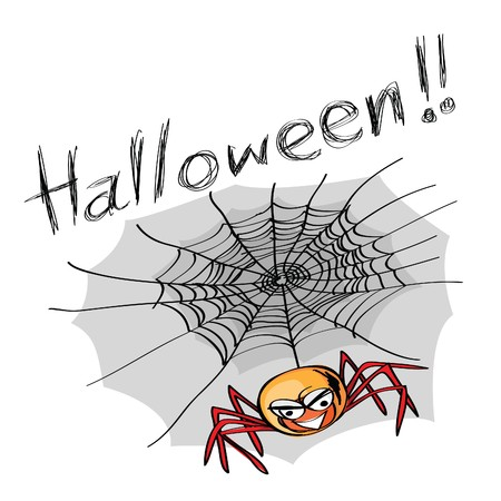 hand-drawn halloween theme message - 5 of series. Vector