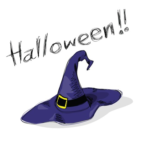 and-drawn halloween theme message - 6 of series. Vector