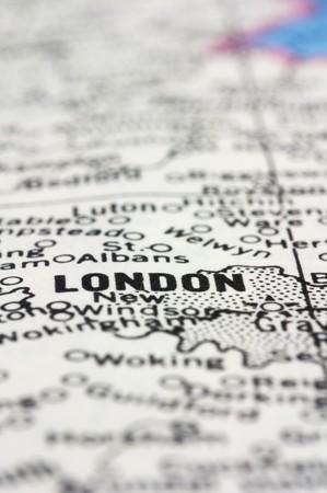 close up London on map. photo