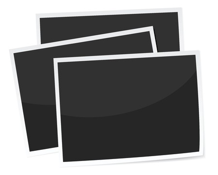 a stack of 3 photograph prints, replace with own image. realistic looking Stock Vector - 8243029