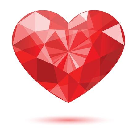 diamond heart shape Stock Vector - 8337545