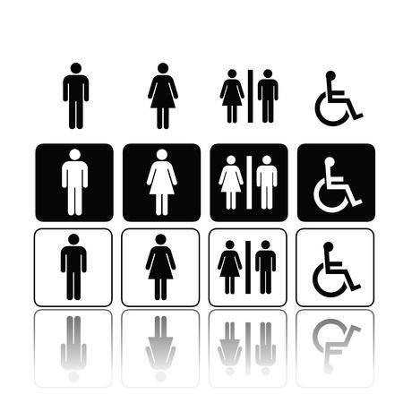 man vrouw symbool: symbolen voor toilet, wasruimte, toilet, toilet.
