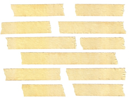 masking tape textures with varied length, isolated on white, set 1 of 2. Stock Photo - 8957419
