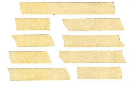 masking tape textures with varied length, isolated on white, set 2 of 2. Stock Photo - 8957418