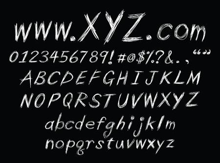 alphabet graffiti: un ensemble de croquis alphabet pour l'utilisation du design.