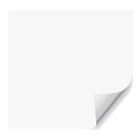 bent: realistic paper page with corner curl effects.