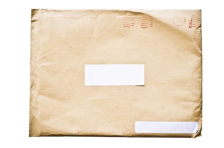 isolated crumpled envelope Stock Photo - 9529224