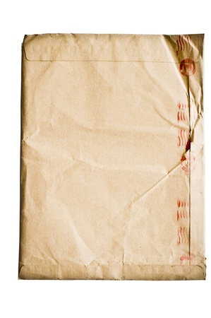 isolated crumpled envelope Stock Photo - 9529223