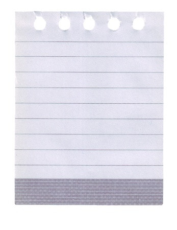 notepad page, a tear off page from note book. Stock Photo - 9531367