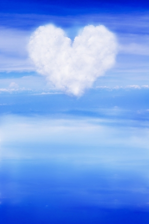 abstract clouds as heart shape, for love themed background, valentine's day. Stock Photo - 9678646