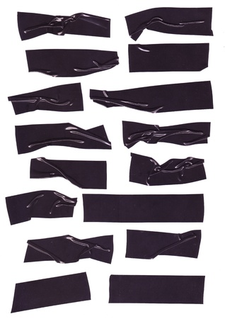 masking: black electrical tape textures, with wrinkled texture for design elements