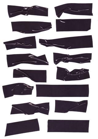 cintas: texturas de cinta aislante negra, con textura rugosa para elementos de dise�o