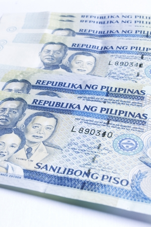 remit: a stack of philippines peso, in one thousand denomination