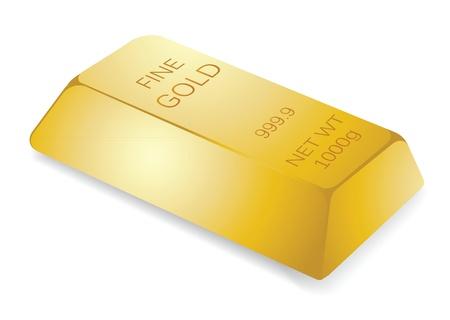 illustration of gold bar, for financial concept. Vector