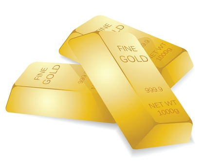 a stack of gold bars, to illustrate wealth. Vector