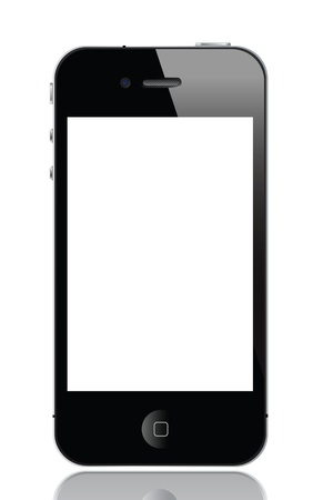 illustration of iphone 4, vector format.  Stock Photo - 10051824