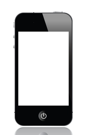 media gadget: illustration of smartphone, vector format.